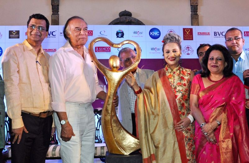 Danseuse Alokananda Roy, veteran actor Barun Chanda and ICCR Regional Director Gautam De during curtain raiser of Women of Substance of Bengal in Kolkata, on April 11, 2017. - Barun Chanda and Alokananda Roy
