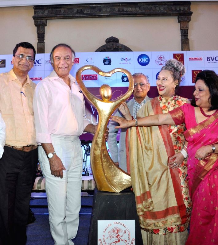 Danseuse Alokananda Roy, veteran actor Barun Chanda and ICCR Regional Director Gautam De during curtain raiser of Women of Substance of Bengal in Kolkata, on April 11, 2017. (Photo: Kuntal ... - Barun Chanda and Alokananda Roy