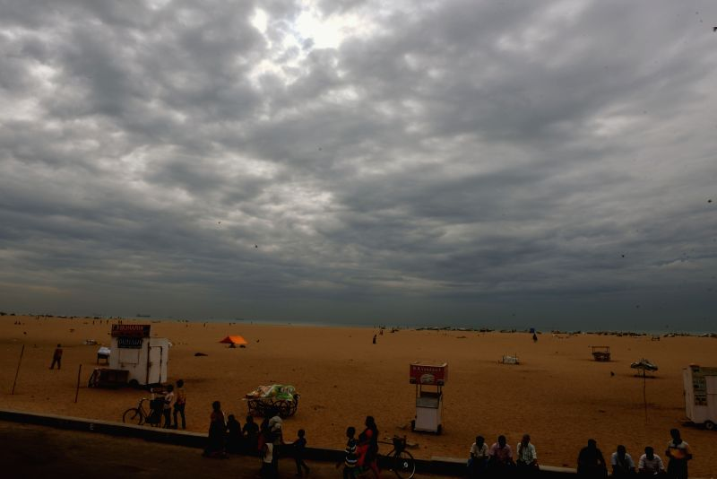 Dark clouds loom over Chennai on July 30,  2016.