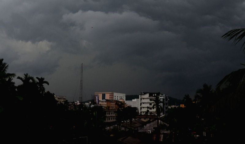 Dark clouds loom over Guwahati on May 5, 2017.