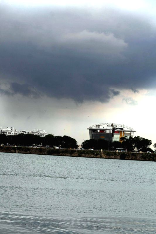 Dark clouds loom over Hyderabad on Aug 25, 2014.