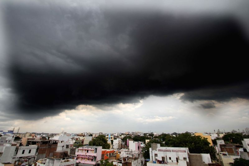 Dark clouds loom over Hyderabad on Aug 26, 2014.