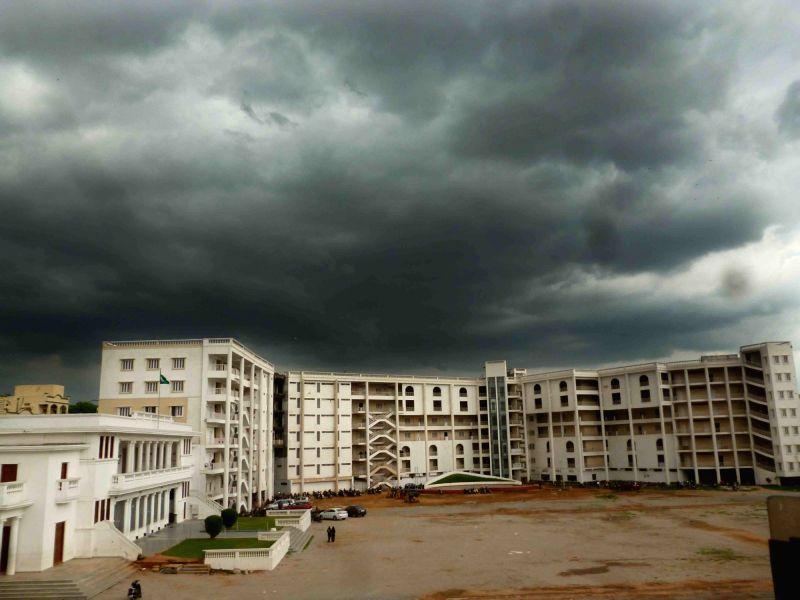 Dark clouds loom over Hyderabad on July 26, 2016.