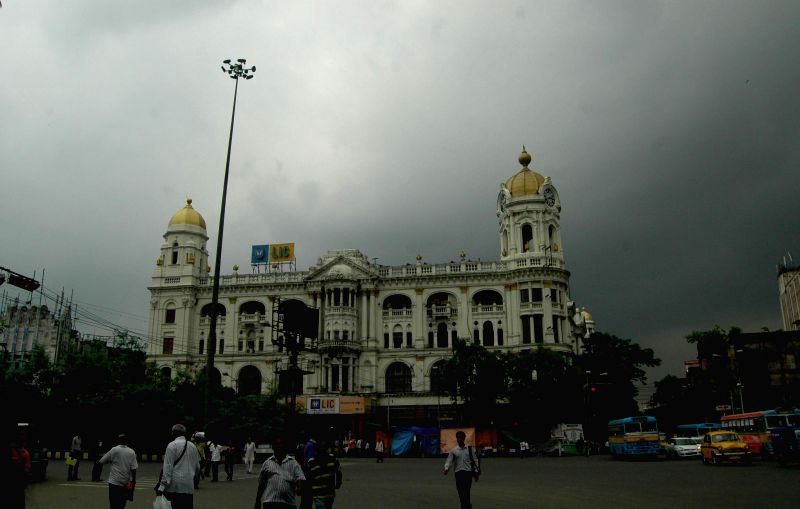 Dark clouds loom over Kolkata on July 3, 2014.