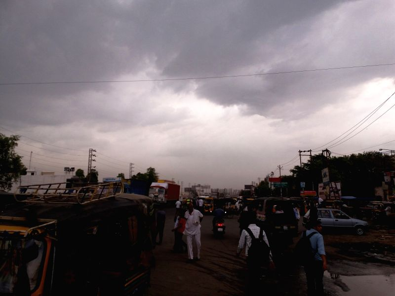 Dark clouds loom over Mathura on May 19, 2017.