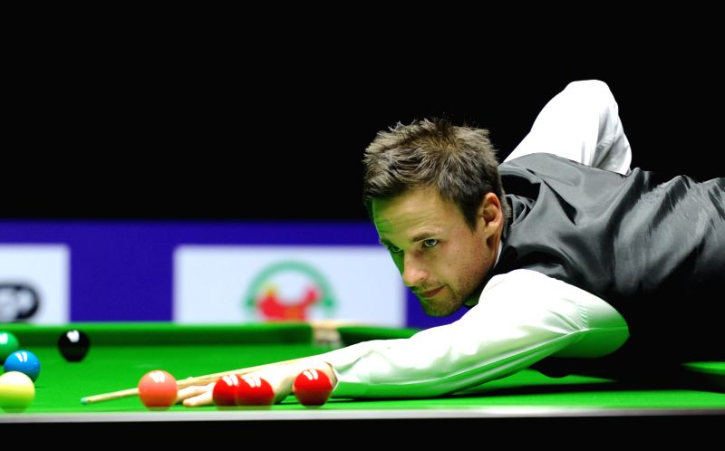 David Gilbert of England competes during the semifinal against Thepchaiya Un-Nooh of Thailand at 2015 World Snooker International Championship in Daqing, city of ...