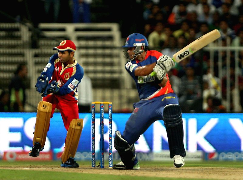 DD player Ross Taylor in action during the second match of IPL 2014 between Delhi Daredevils and Royal Challengers Bangalore, played at Sharjah Cricket Stadium in Sharjah of United Arab Emirates on ..