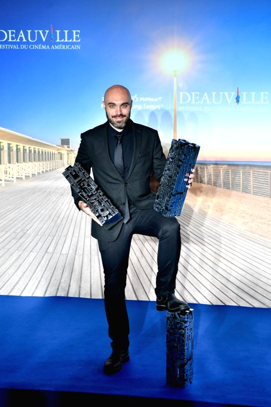 """DEAUVILLE, Sept. 10, 2017 - The director David Lowery of the film """"A Ghost Story"""" poses for photos in Deauville, France, on Sept. 9, 2017. The film """"A Ghost Story"""" was awarded ... - David Lowery"""
