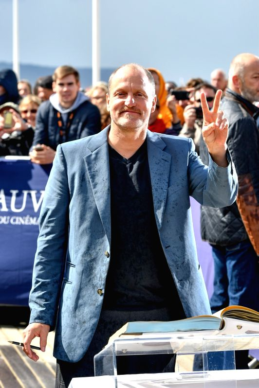 """DEAUVILLE, Sept. 9, 2017 - Actor Woody Harrelson of movie """"The Glass Castle"""" attends a photocall during the 43rd Deauville US Film Festival in Deauville, France, on Sept. 9, 2017. - Woody Harrelson"""