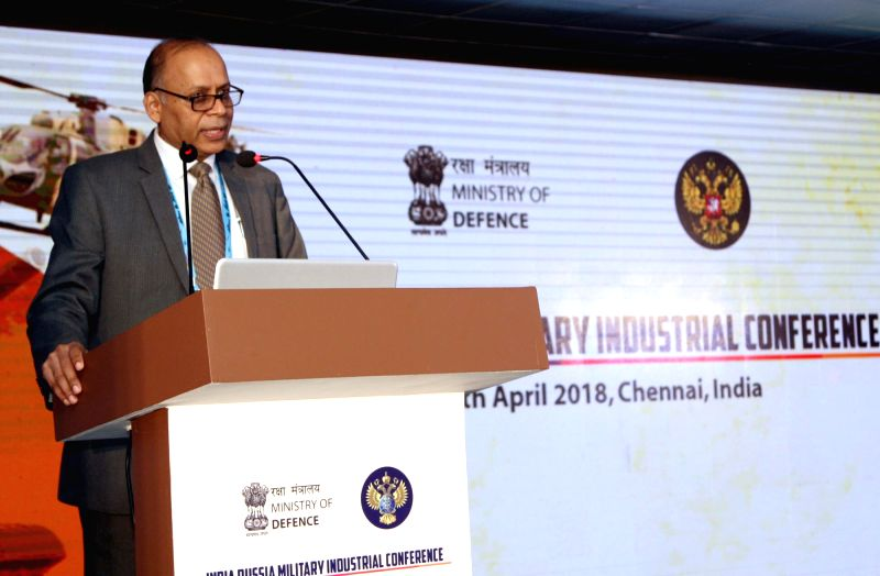 Defence Production Secretary Dr. Ajay Kumar addresses at the 3rd Round of India-Russia Military Industrial Conference in DefExpo India - 2018, at Thiruvidanthai of Kancheepuram ... - Ajay Kumar