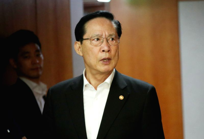 Defense Minister Song Young-moo attends a government policy coordination and review meeting in Seoul on July 12, 2018. An independent investigation team was launched on the president's order ... - Song Young