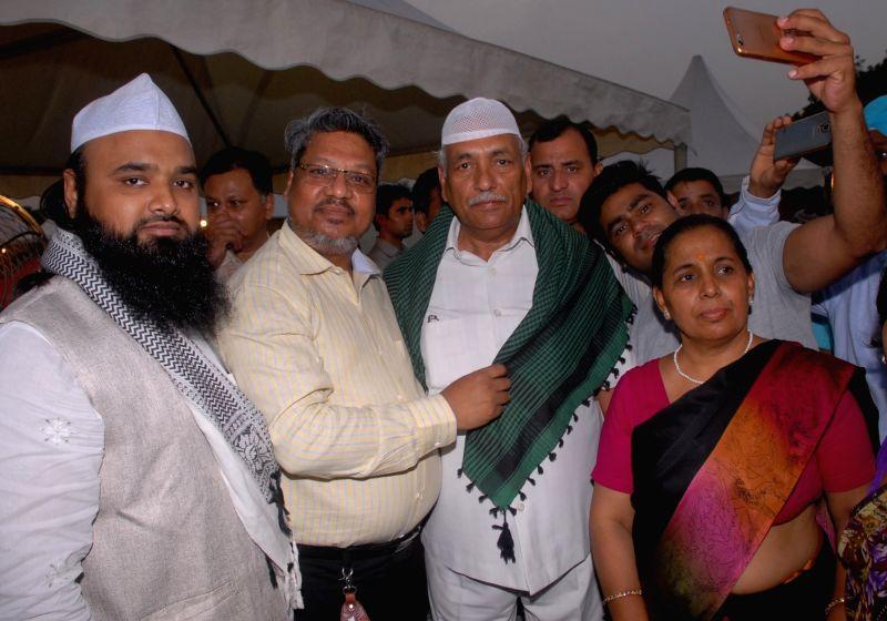 Delhi Assembly Speaker Ram Niwas Goel during an Iftaar party at Delhi Vidhan Sabha in New Delhi on June 19, 2017. - Ram Niwas Goel