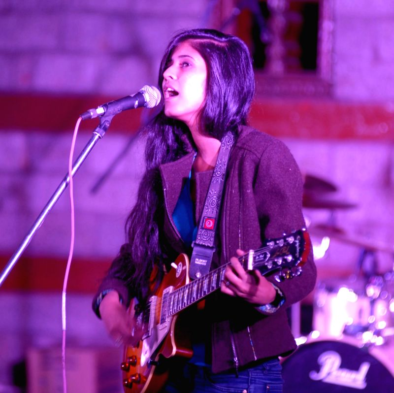 Delhi based rock band Moonshadow frequency performing at Manali Summer Sundowners