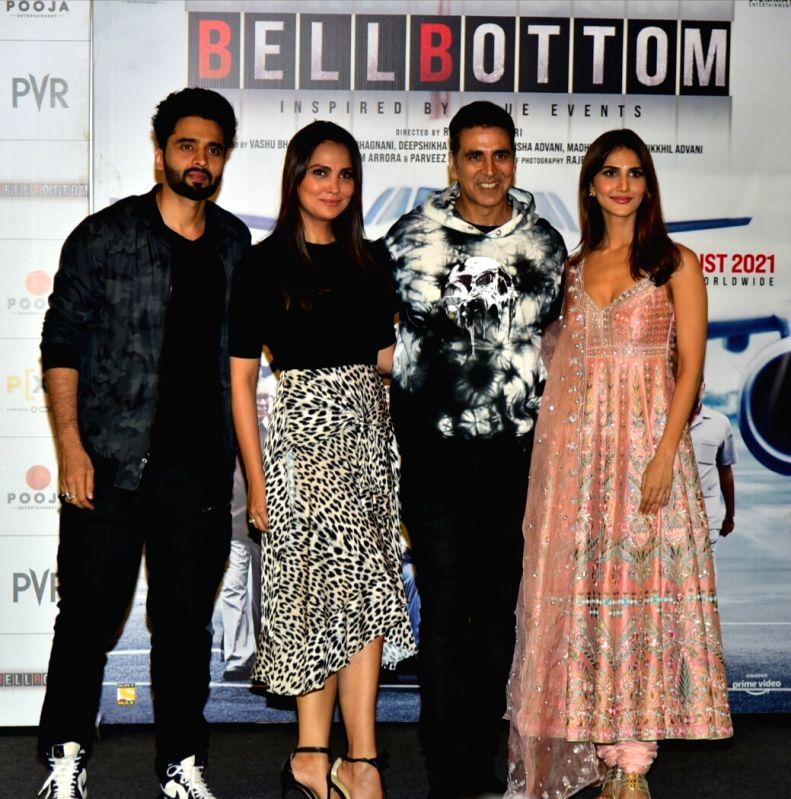 Delhi: Bellbottom Star cast in New Delhi for the film's trailer launch on Tuesday August 3, 2021 location New Delhi(Photo: Anupam Gautam/IANS)
