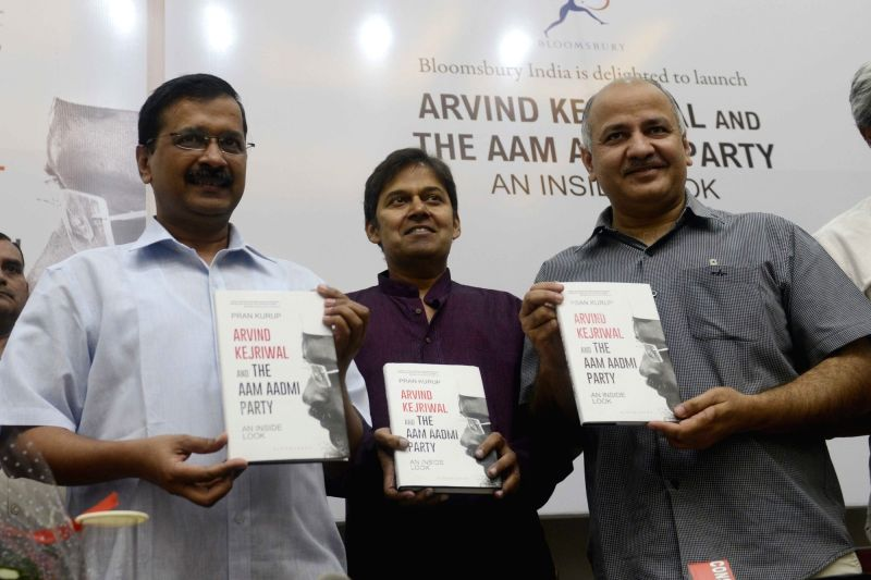 "Delhi Chief Minister Arvind Kejriwal and Deputy Chief Minister Manish Sisodia during the release of a book ""Arvind Kejriwal and The Aam Admi Party An Inside Look"" written by Pran ... - Arvind Kejriwal"