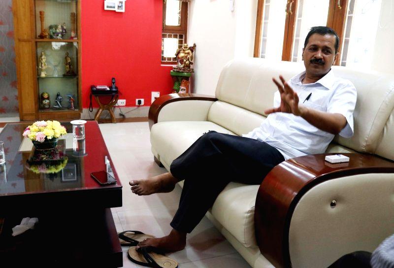 Delhi Chief Minister Arvind Kejriwal during an interview in New Delhi on April 22, 2017. - Arvind Kejriwal