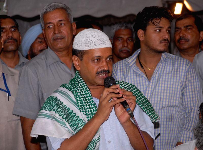 Delhi Chief Minister Arvind Kejriwal during an Iftaar party at Delhi Vidhan Sabha in New Delhi on June 19, 2017. - Arvind Kejriwal