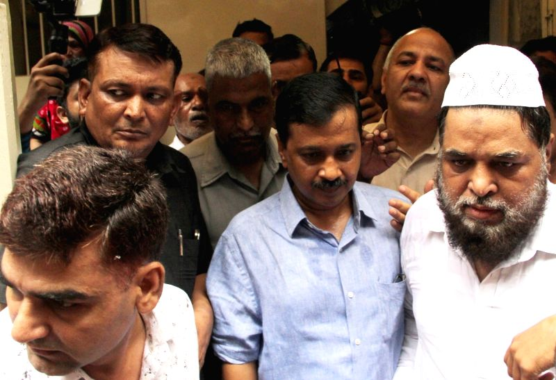 Delhi Chief Minister Arvind Kejriwal during his visit to Rabea Girls' Public School in Delhi's Chandni Chowk, on July 12, 2018. The school allegedly locked many girls aged 4-5 years for ... - Arvind Kejriwal