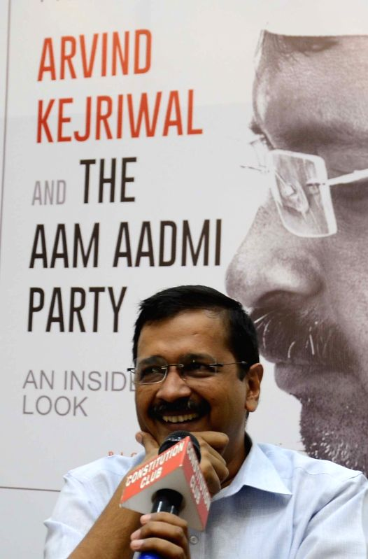 "Delhi Chief Minister Arvind Kejriwal during the release of a book ""Arvind Kejriwal and The Aam Admi Party An Inside Look"" written by Pran Kurup, in New Delhi on July 19, 2016. - Arvind Kejriwal"
