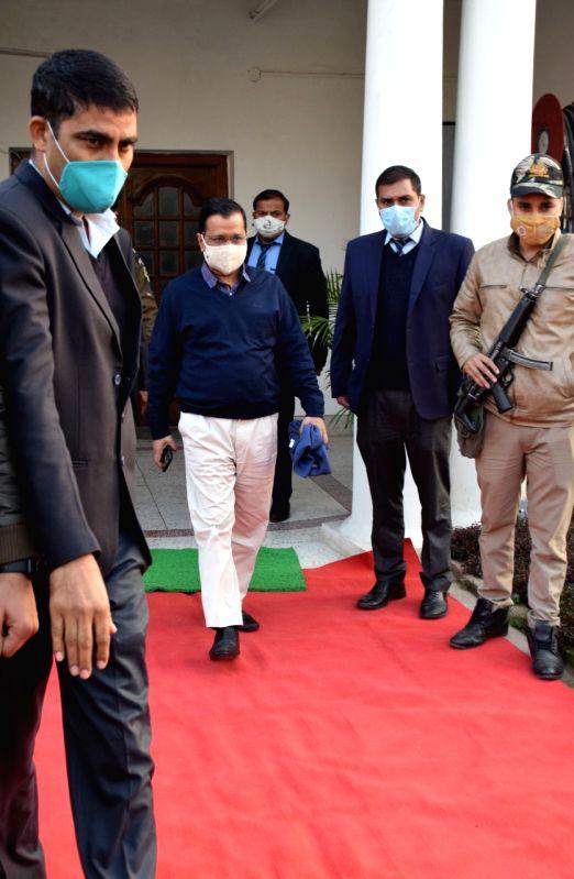 Delhi CM Arvind Kejriwal with Manish Sisodia  during  The Special Session of the Seventh Legislative Assembly of National Capital Territory of Delhi  commence on Thursday,   17 th December, 2020 at Vidhan Sabha, Old Secretariat in New Delhi on Thursd