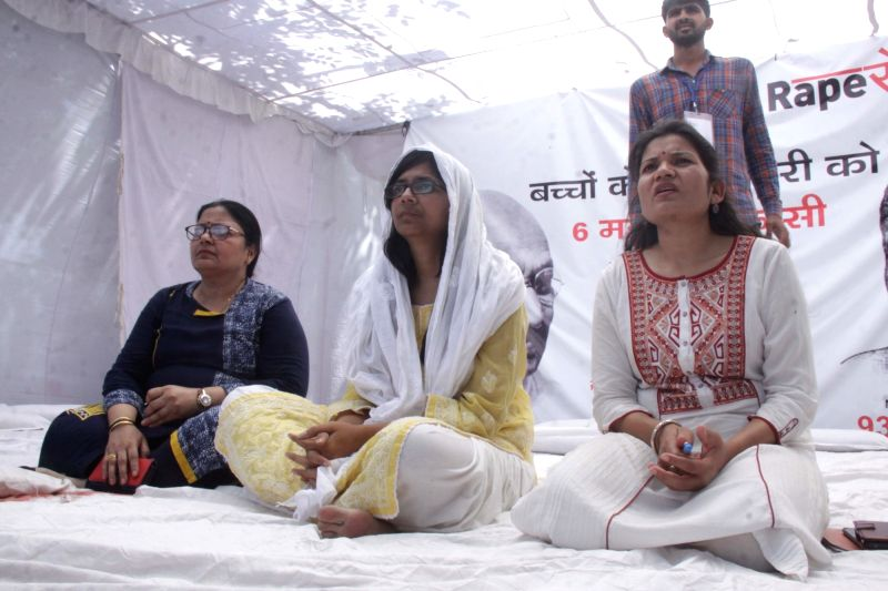 Delhi Commission for Woman (DCW) chief Swati Maliwal sit on an indefinite hunger strike at Rajghat against Unnao and Kathua rape incidents and appeal to the Prime Minister Narendra Modi to ... - Narendra Modi
