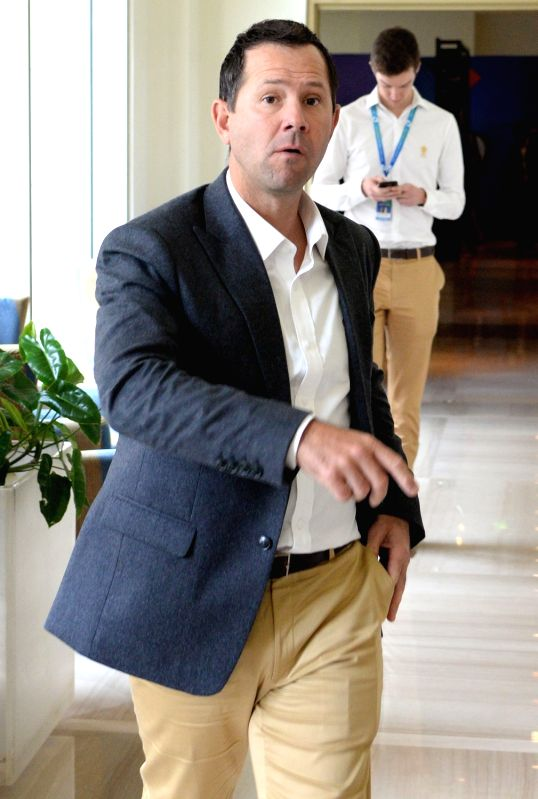 Delhi Daredevils coach Ricky Ponting arrives to attend Indian Premier League (IPL) Players' Auction in Bengaluru on Jan 28, 2018.