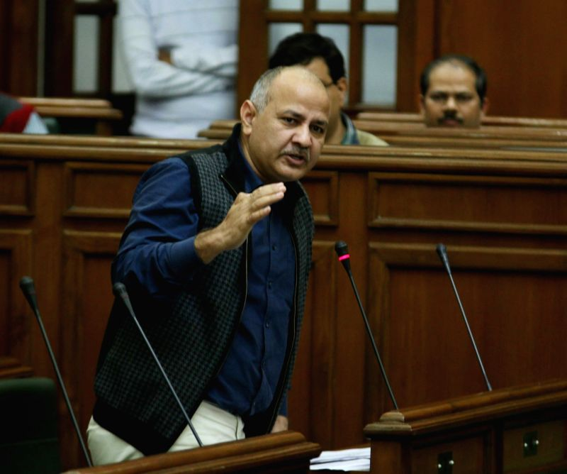 Delhi Deputy Chief Minister Manish Siosodia addresses in Delhi Assembly Vijender Gupta addresses in Delhi assembly during on the last day of winter session on Dec 4, 2015. - Manish Siosodia and Assembly Vijender Gupta