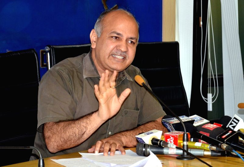 Delhi Deputy Chief Minister Manish Sisodia addresses a press conference in New Delhi on Aug 4, 2016. - Manish Sisodia