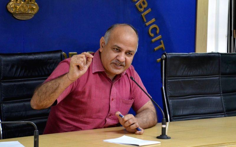 Delhi Deputy Chief Minister Manish Sisodia addresses a press conference in New Delhi on May 13, 2017. - Manish Sisodia