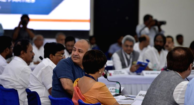 Delhi Deputy Chief minister Manish Sisodia during an all party meeting organised by Election Commission of India (ECI) on Electronic Voting Machines (EVMs) and other electoral reforms in ... - Manish Sisodia