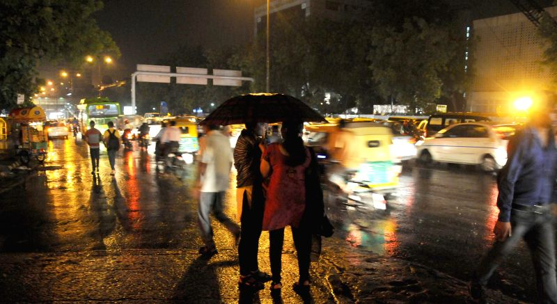 Delhi-NCR witnesses strong gusts and downpour after a hot afternoon on  May 8, 2014.