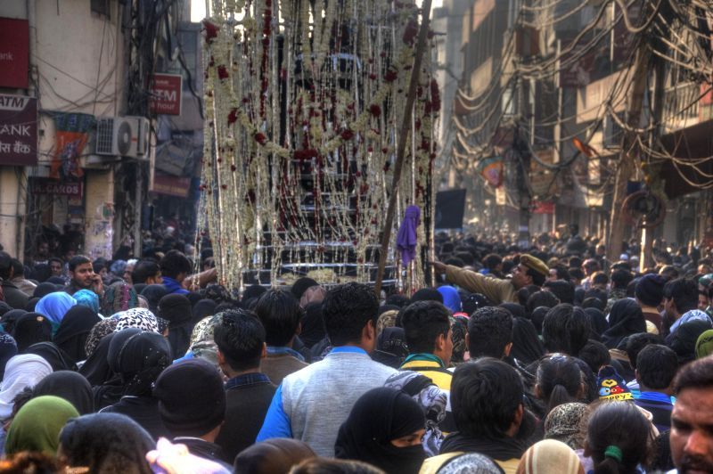 People participate in a Muharram procession organised in Old Delhi on Dec 30, 2014.
