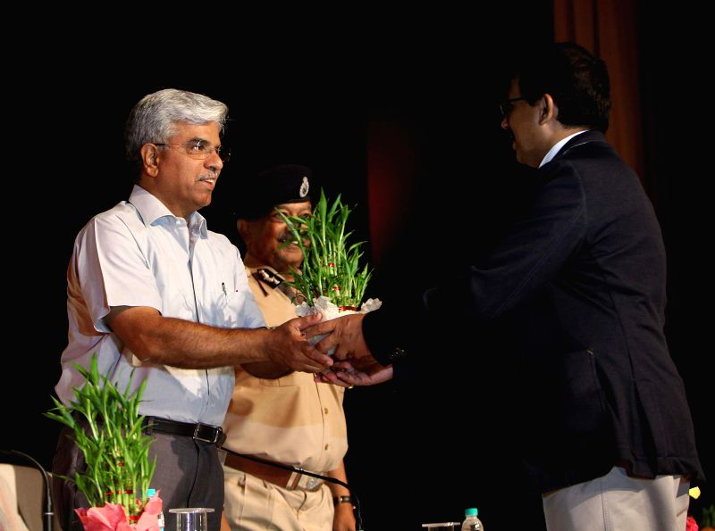Delhi Police Commissioner B.S. Bassi during a programme in New Delhi on May 14, 2014.