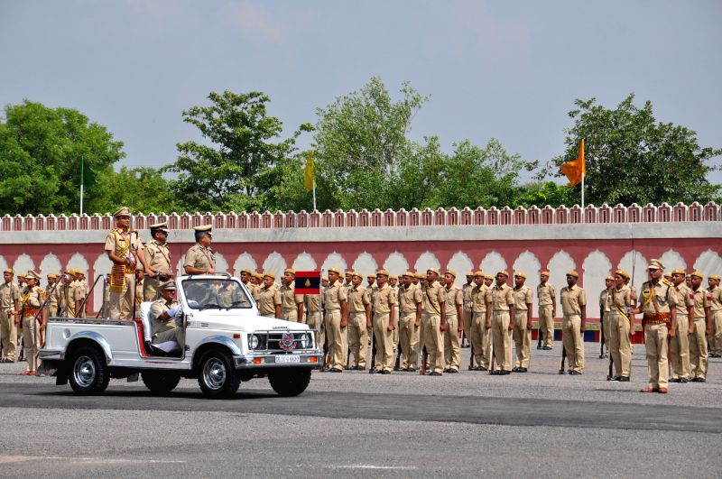 Delhi Police Commissioner BS Bassi inspects Guard of Honour at the Passing out Parade of 12th batch of DANIPS (Prob.)/PONDIPS which was held at Police Training College, Jharoda Kalan, New Delhi on ...