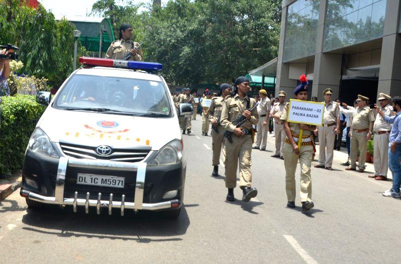 Delhi Police launch 'Parakram' vans at Police Headquarters in New Delhi, on May 25, 2017.