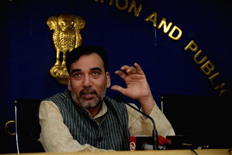 :Delhi Rural Development Minister Gopal Rai. (File Photo: IANS).