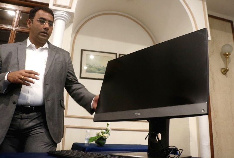 Dell India Director and General Manager (Client Solutions Group) Indrajit Belgundi at the launch of Dell Optiplex Desktop, in New Delhi on June 14, 2018.