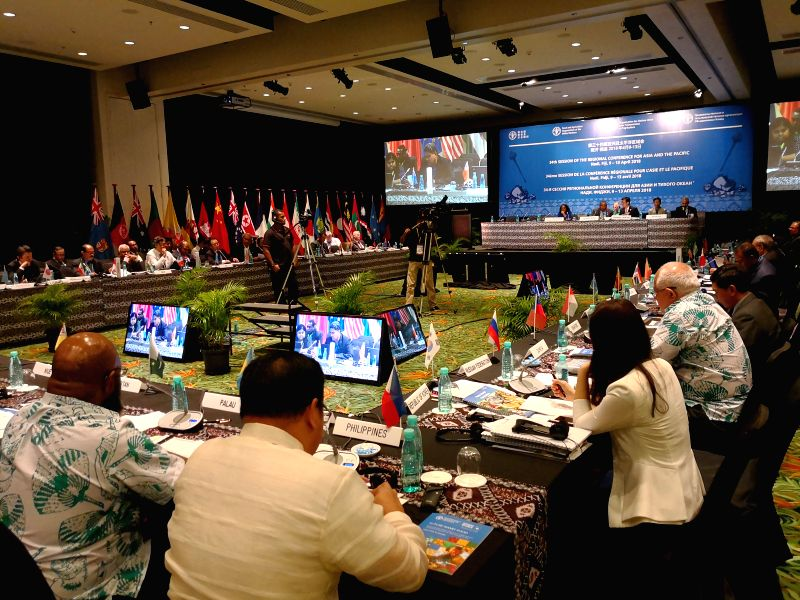 DENARAU ISLAND, April 12, 2018 - Representatives attend the 34th United Nations Food and Agricultural Organization (FAO) Regional Conference for Asia and the Pacific (APRC) on the Denarau island near ...