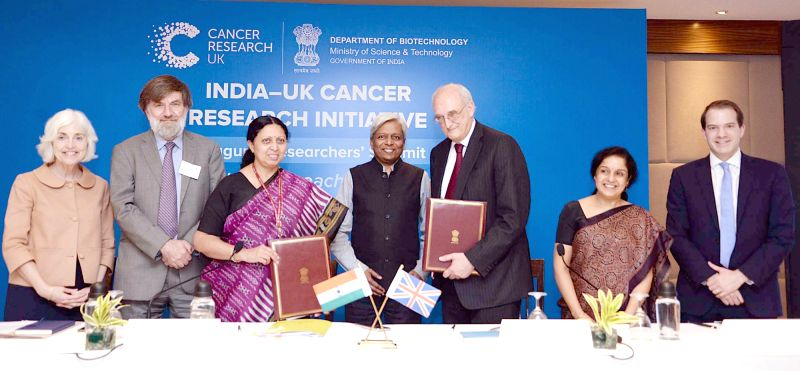 Image result for Department of Biotechnology, Cancer Research UK sign MoU for India-UK Cancer Research Initiative