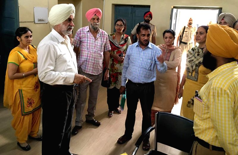Deputy Commissioner Kapurthala Jaskiran Singh visits the civil hospital to conduct a proper inquiry into the suspected food poisoning in a home for mentally challenged children in ...