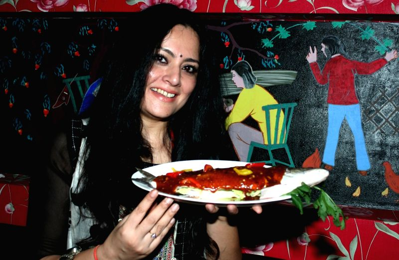 Designer Agnimitra Paul at the launch of a restaurant in Kolkata on April 5, 2016.