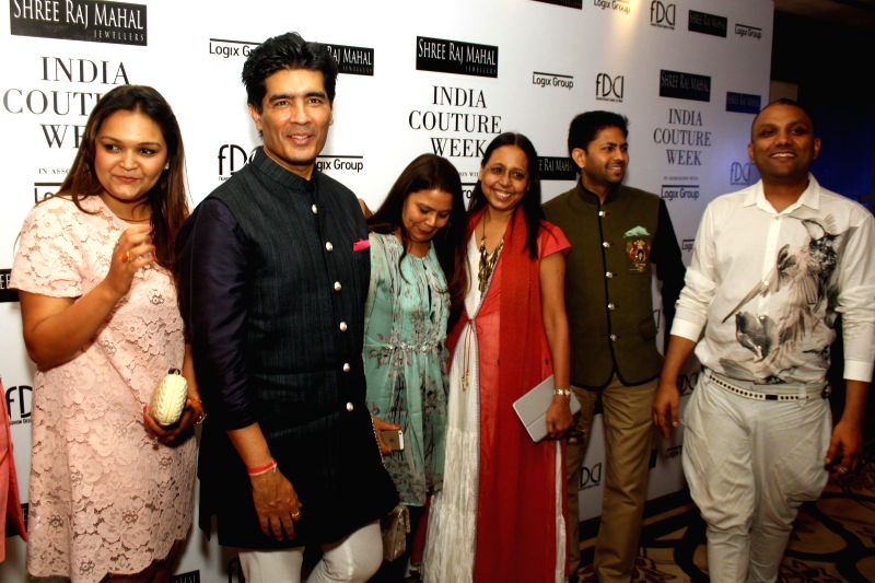 Designer Manish Malhotra during the preview of upcoming India Couture Week 2014 in New Delhi on June 19, 2014. - Manish Malhotra
