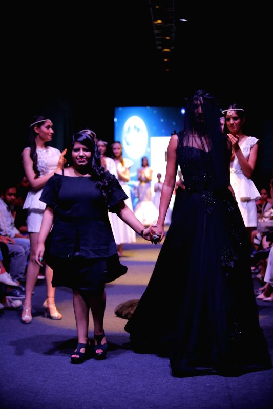 Designer Mithi Kalra at the launch of her new \'Moonlight Collection\' at the India Runway Week.