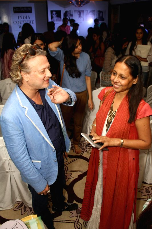Designer Rohit Bal during the preview of upcoming India Couture Week 2014 in New Delhi on June 19, 2014. - Rohit Bal