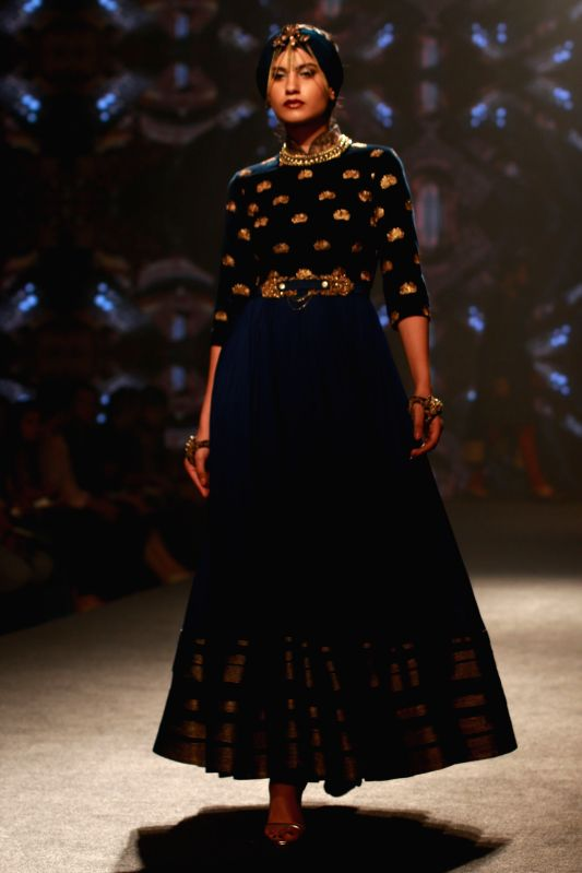 Designer Shantanu and Nikhil's  Show  at the  BMW India Bridal Fashion Week in New  Delhi, on August 10,2015.