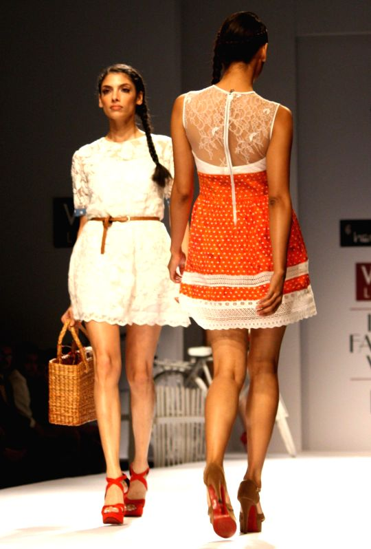 Designers Hemant And Nandita Show At The Wills Lifestyle India Fashion Week Spring Summer 2014