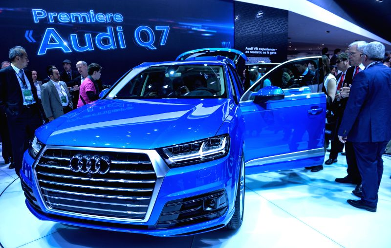 Audi unveils it's new Q7 during the 2015 North American International Auto Show (NAIAS) in Detroit, the United States, Jan. 12, 2015.