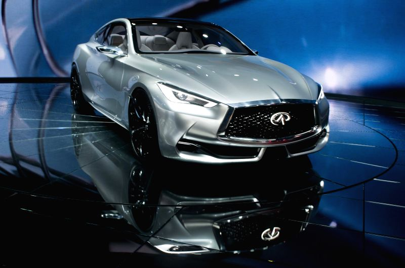 The Infinity Q60 concept car is exhibited during the 2015 North American International Auto Show (NAIAS) in Detroit, the United States, Jan. 12, 2015. (Xinhua/He ...