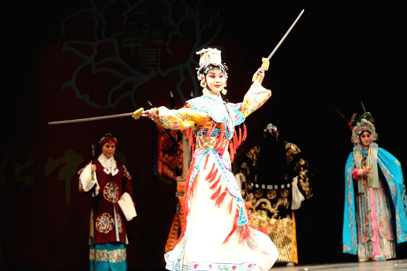 """Peking Opera actress Bai Jin performs during the """"Cultures of China, Festival of Spring"""" performance in Detroit, the United States, March 1, 2015. ... - Bai Jin"""