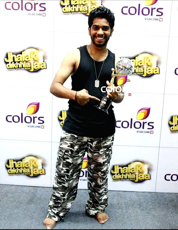 Dev Chelot during `Jhalak Dikhhla Jaa UAE Season 3` grand finale at the Sheikh Rashid Auditorium, Indian High School in Dubai on June 24, 2014.